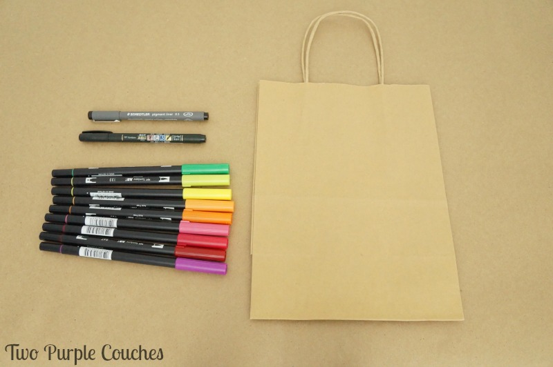 How to embellish a gift bag