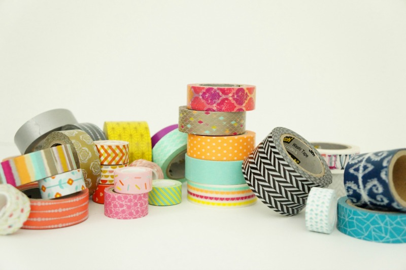 assortment of washi tape