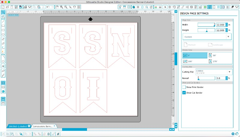 Making a banner in Silhouette Studio