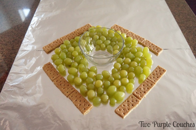 Step 2: how to make a baseball field fruit tray
