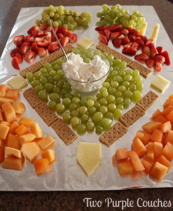 Step 5: how to make a baseball field fruit tray