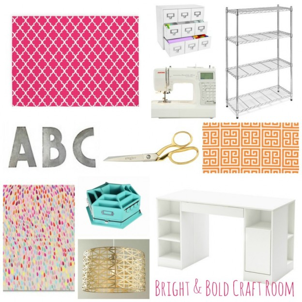 Bright and Bold Craft Room Design Plans_One Room Challenge_Spring 2016