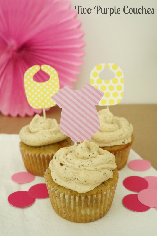 Adorable baby shower cupcake toppers