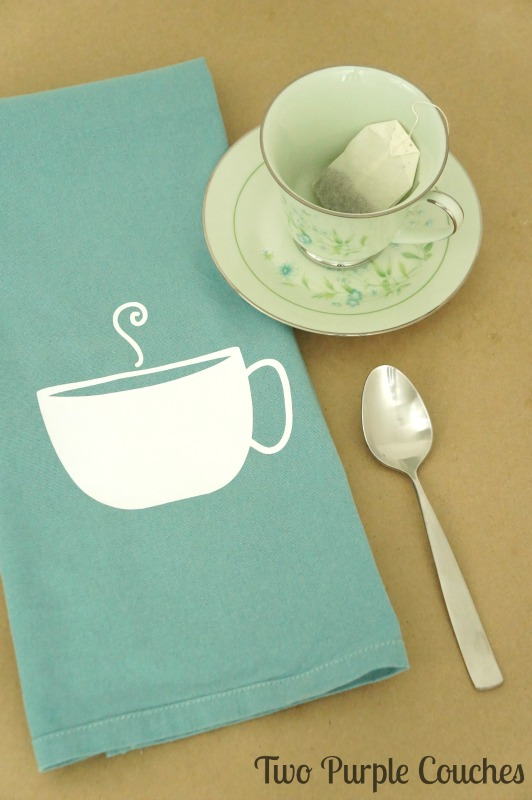 Time for tea? Make Mom a special DIY tea towel gift for Mother's Day