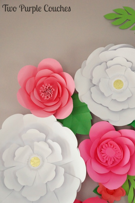 Simply stunning paper flower display - perfect backdrop for a garden party bridal shower!