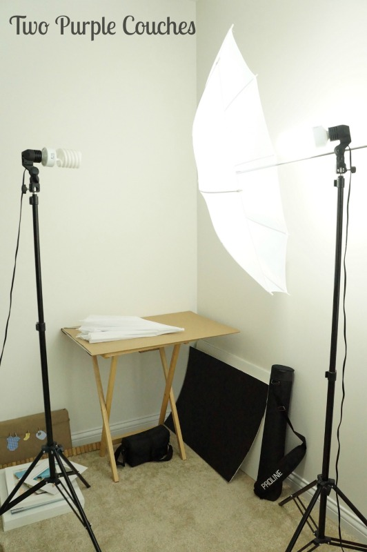 Photo studio corner in progress / One Room Challenge Week 4