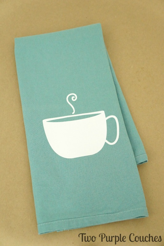 Cute idea for a DIY Mother's Day Gift - make Mom a teacup tea towel