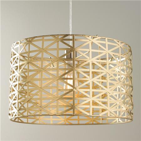 Metal Strap Drum Pendant by Young House Love for Shades of Light