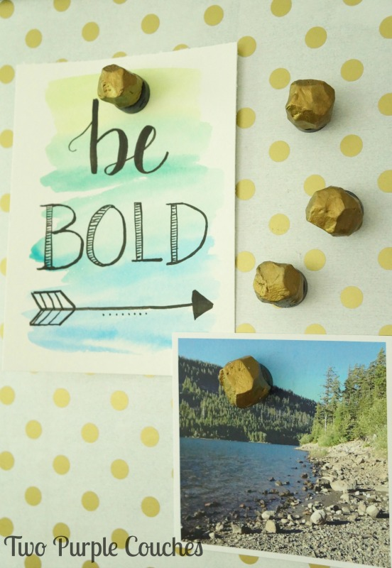 Get on board with the faceted gem trend with these DIY gem magnets, made from clay! Easy step-by-step tutorial with photos so you can make your own set.