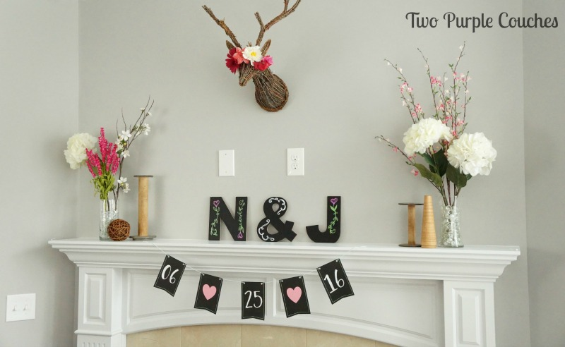 Monograms are a sweet touch to any bridal shower. See how easy it is to create pretty chalkboard-style monogram decor with this simple tutorial!
