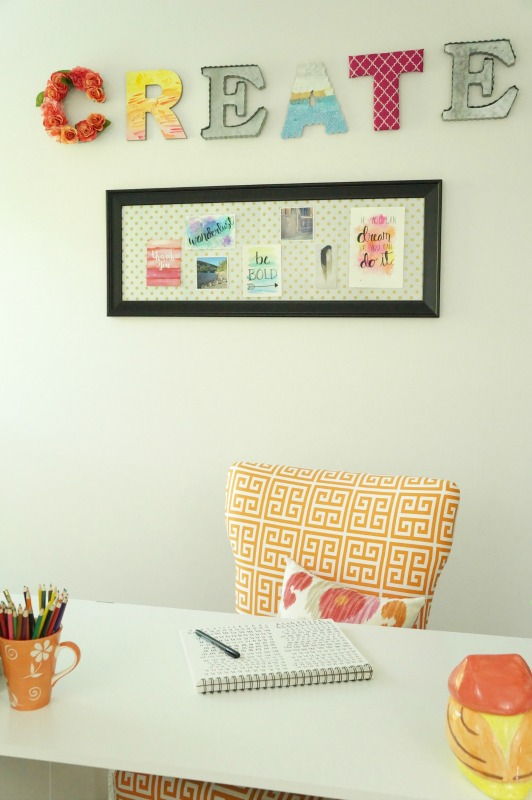 Wall Art For Craft Room : One room challenge week craft reveal two