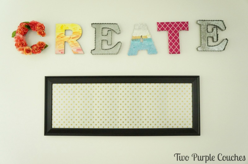 Learn how easy it is to create your own framed magnetic board! This is a seriously simple project that can be completed within an hour.