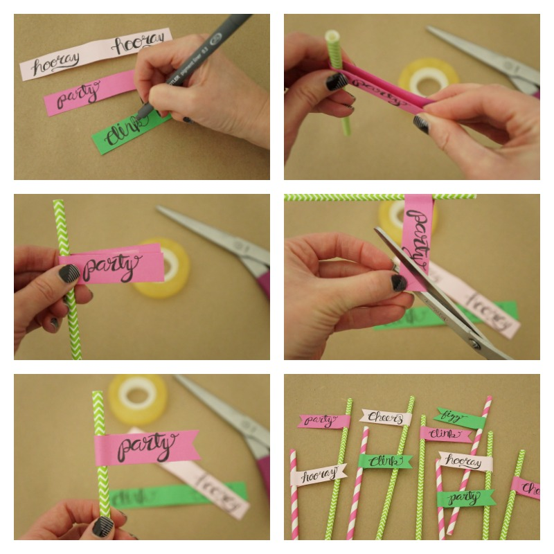 Learn how easy it is to make these festive paper straw flags