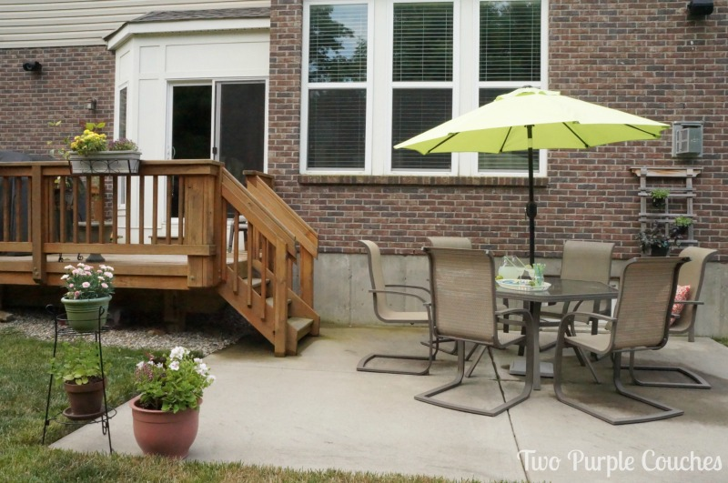 Simple patio entertaining