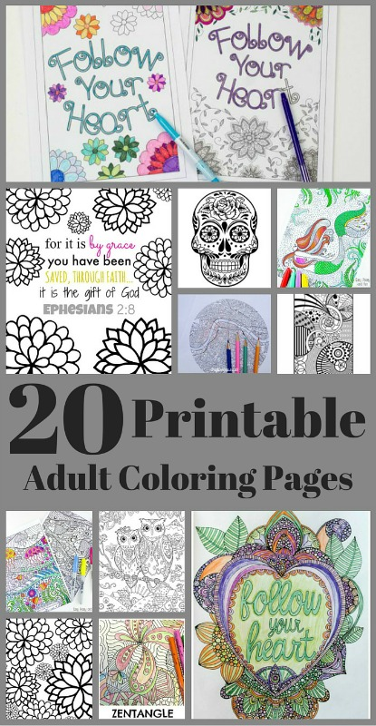 20 Free Coloring Pages from Just 2 Sisters