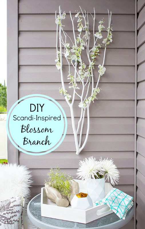 DIY Scandi-Inspired Blossom Branches from A Pretty Fix