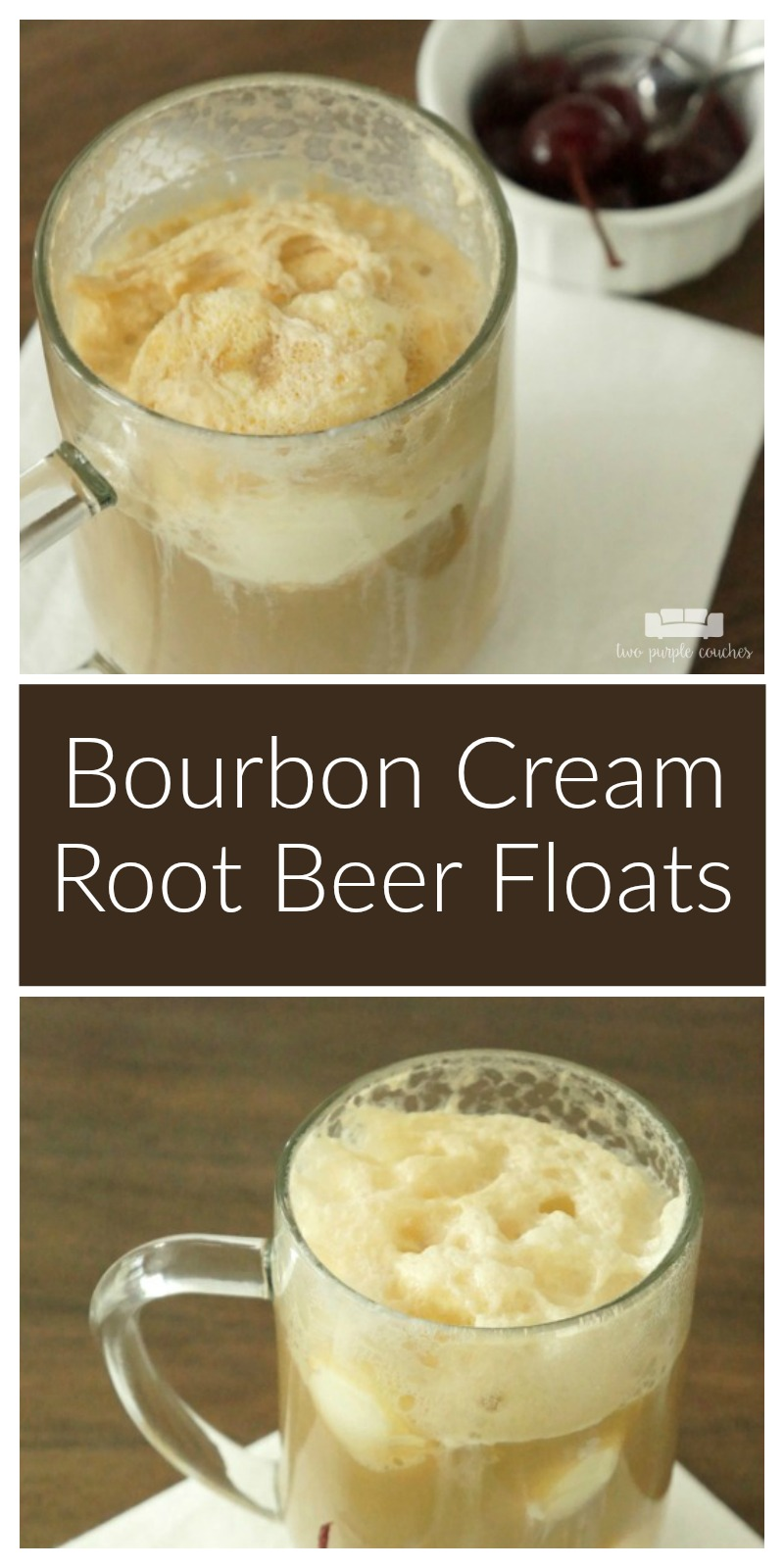 Beat the heat this summer with this boozy Bourbon Cream Root Beer Float recipe. A creamy and delicious adult spin on this childhood favorite treat!