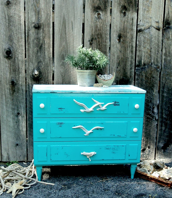 Coastal Dresser Makeover from Redo It Yourself Inspirations