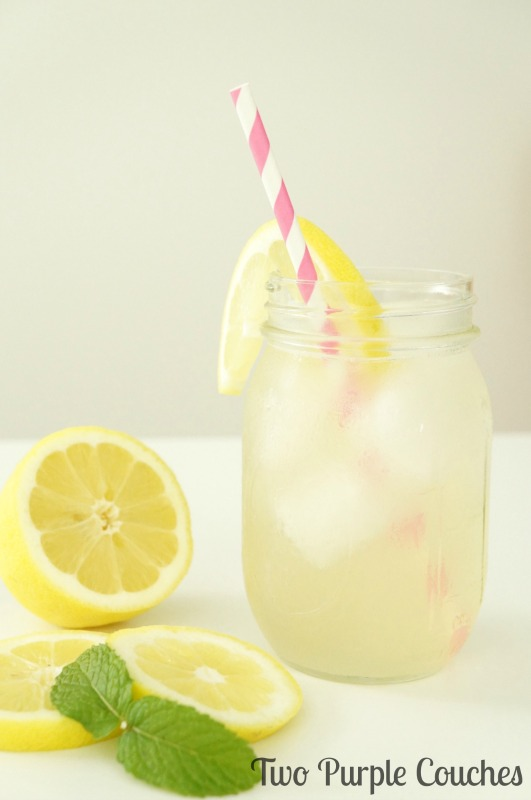 Elderflower Lemonade Cocktail - a crisp and refreshing twist on homemade hard lemonade with the addition of sweet elderflower liqueur.