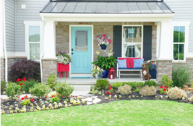 Front Porch Makeover from Paint Yourself A Smile