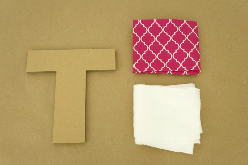 Fabric Covered Letters - materials needed