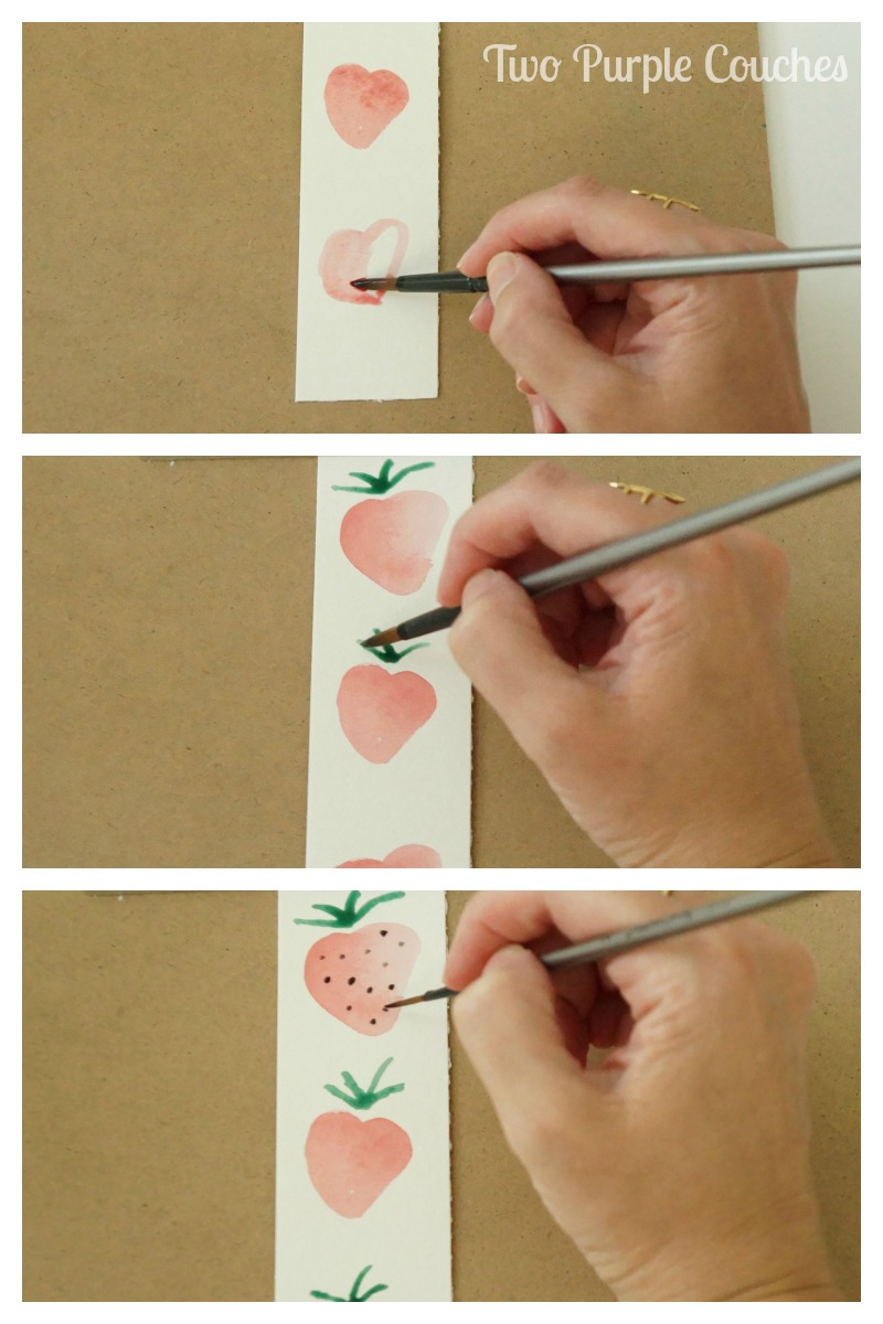 How to paint watercolor fruits - follow this tutorial to learn how to paint simple strawberries, cherries and limes with watercolor paints.