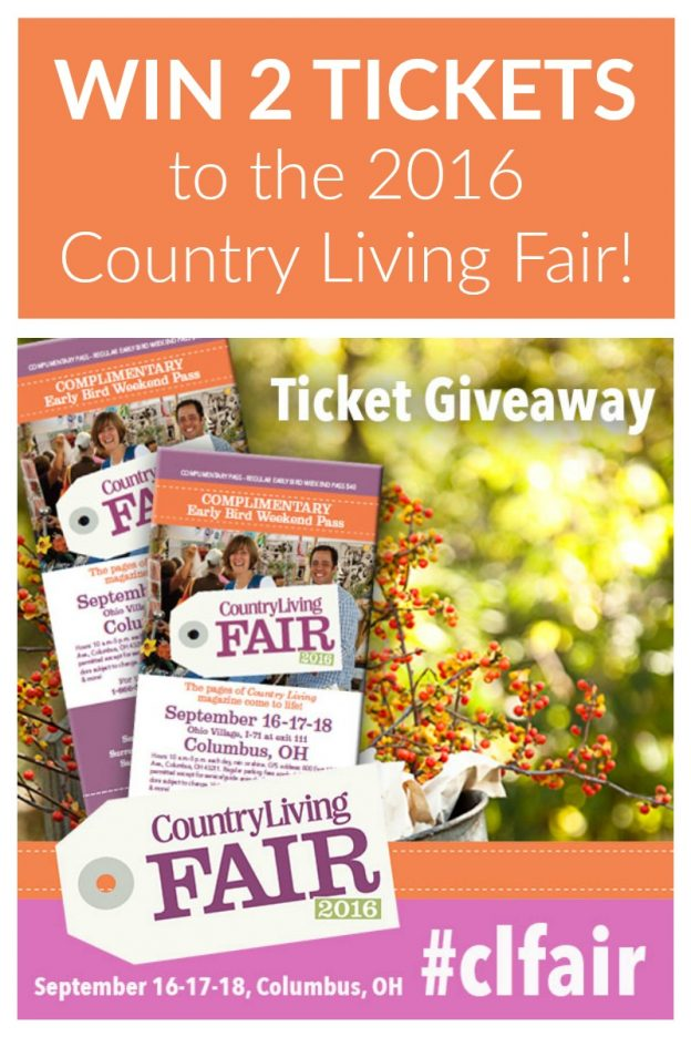 Find out how you can win two (2) tickets to the the Country Living Fair 2016 in Columbus, Ohio, September 16-18. You don't want to miss this! #CLFair #sponsored
