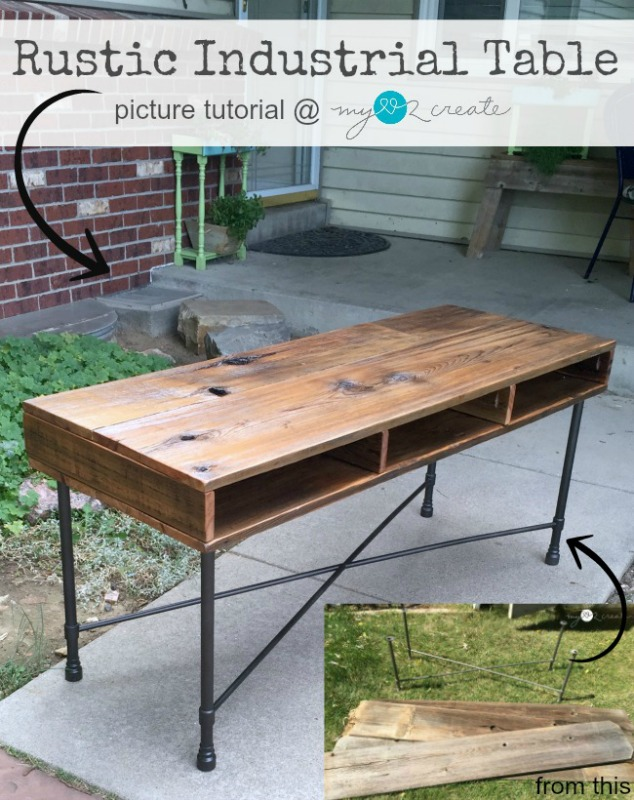 Rustic Industrial Table from MyLove2Create