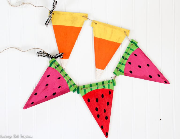 Summer to Fall Reversible Bunting Banner from Average but Inspired