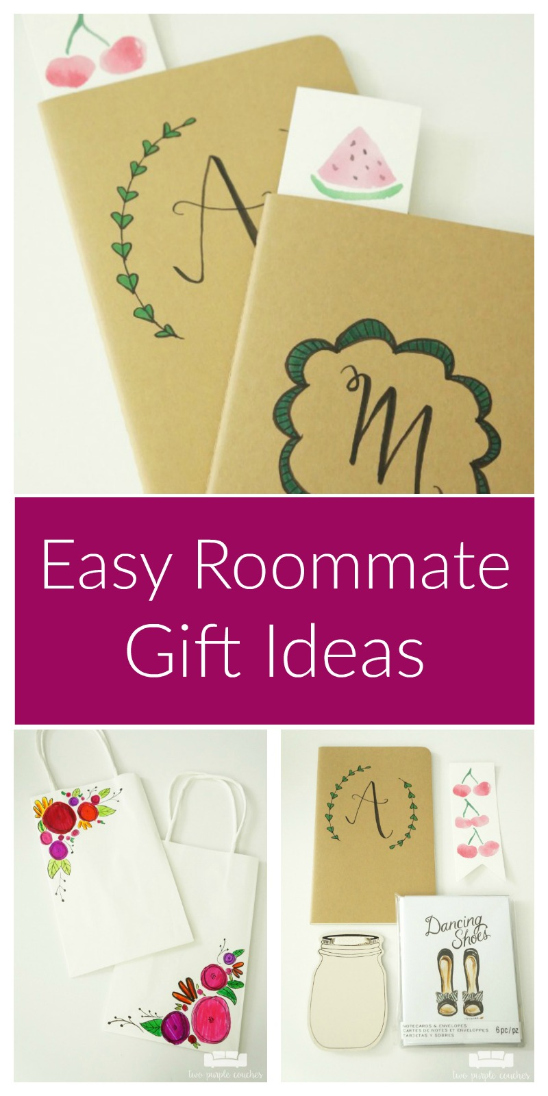Easy blog conference roommate gifts you can make in minutes! Heading to a blog conference? Bring along a few small but thoughtful gifts for your roommates!