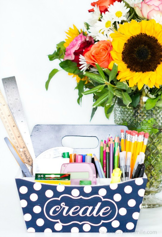 Homework Caddy from Paint Yourself A Smile
