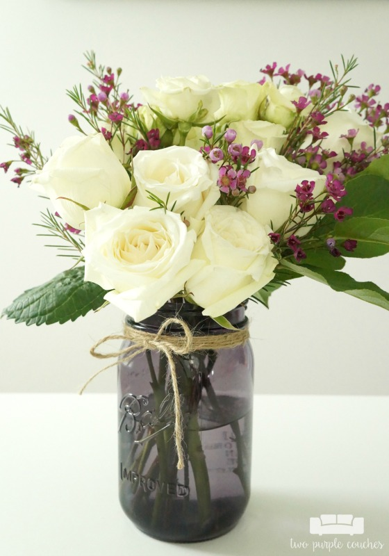 Diy Mason Jar Flower Arrangement With Kroger Roses Two