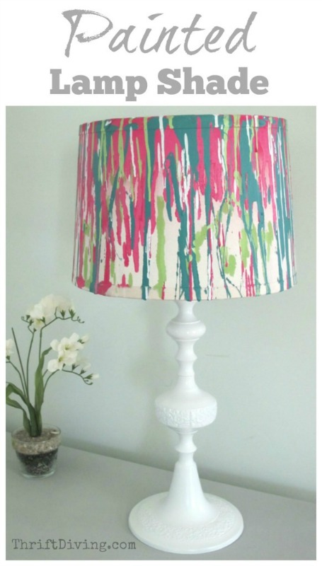 painted-lamp-shade-thrift-diving-582x1024
