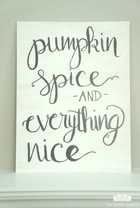 Create your own beautiful hand-lettered art for fall using this easy-to-follow tutorial. Use for fall decorating on a mantel or entryway table!