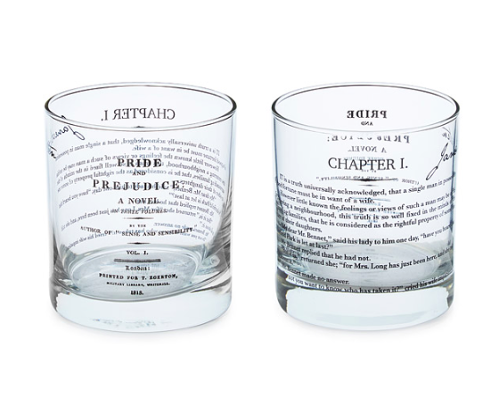 Literary Glasses from Uncommon Goods