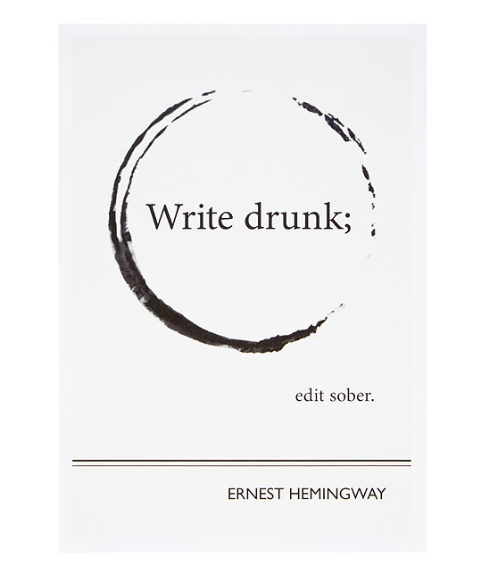Hemingway Literary Poster from Uncommon Goods