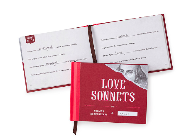 Love Sonnets Book from Uncommon Goods
