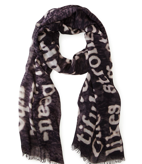 Dictionary Scarf from Uncommon Goods