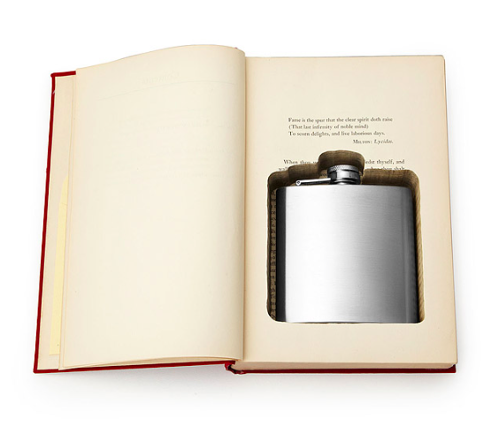Flask Book Box from Uncommon Goods