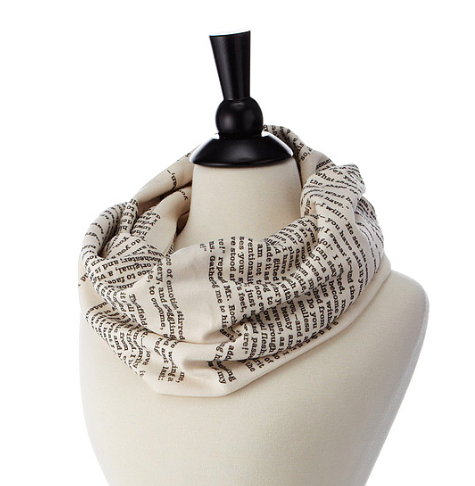 Literary Scarf from Uncommon Goods