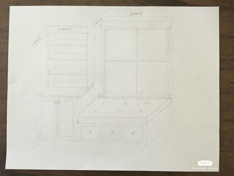 built-in-window-bench-pencil-sketch