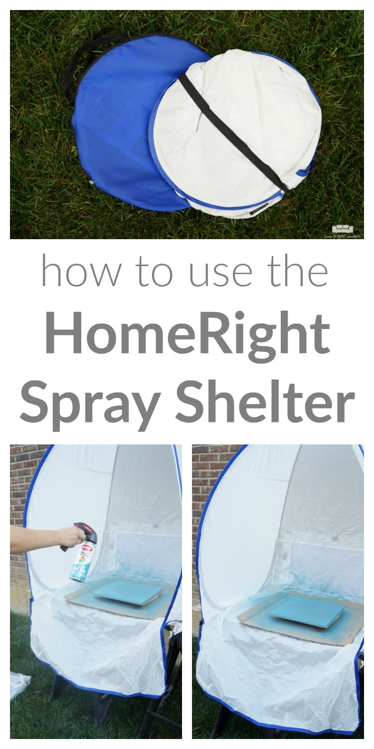 No more messy garage floor or patio! I can spray paint with less mess and fewer headaches with my new Spray Shelter from HomeRight.