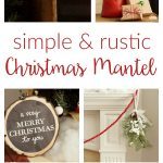 Simple Rustic Christmas Mantel Decorations / I am thrilled to be joining Sondra Lyn's Home for the Holidays tour with my woodlands-inspired holiday mantel.