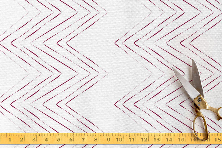 Zig Zag Fabric from Minted / Need help selecting coordinating home decor fabrics for your room? Follow these easy tips on how to mix different prints, patterns and fabrics.