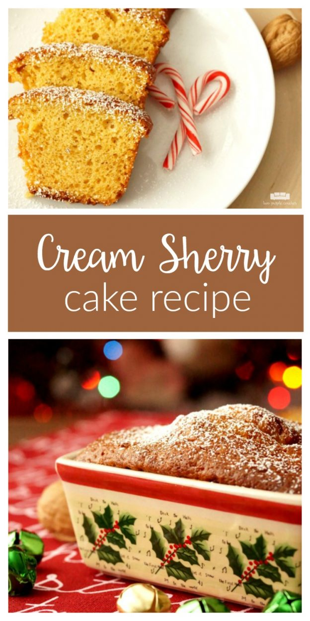 Classic Cream Sherry Cake recipe makes a delicious holiday dessert. Bake it in mini bread loaf pans and these make great hostess gifts!