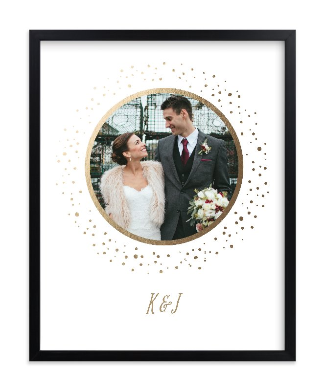 How amazing are these gorgeous foil-pressed photo art prints from Minted!? These would make amazing gifts for the holidays or weddings!