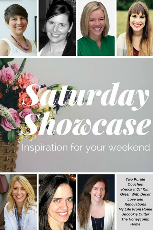 Saturday Showcase - a monthly roundup of these bloggers' favorite projects, crafts, home ideas & more!