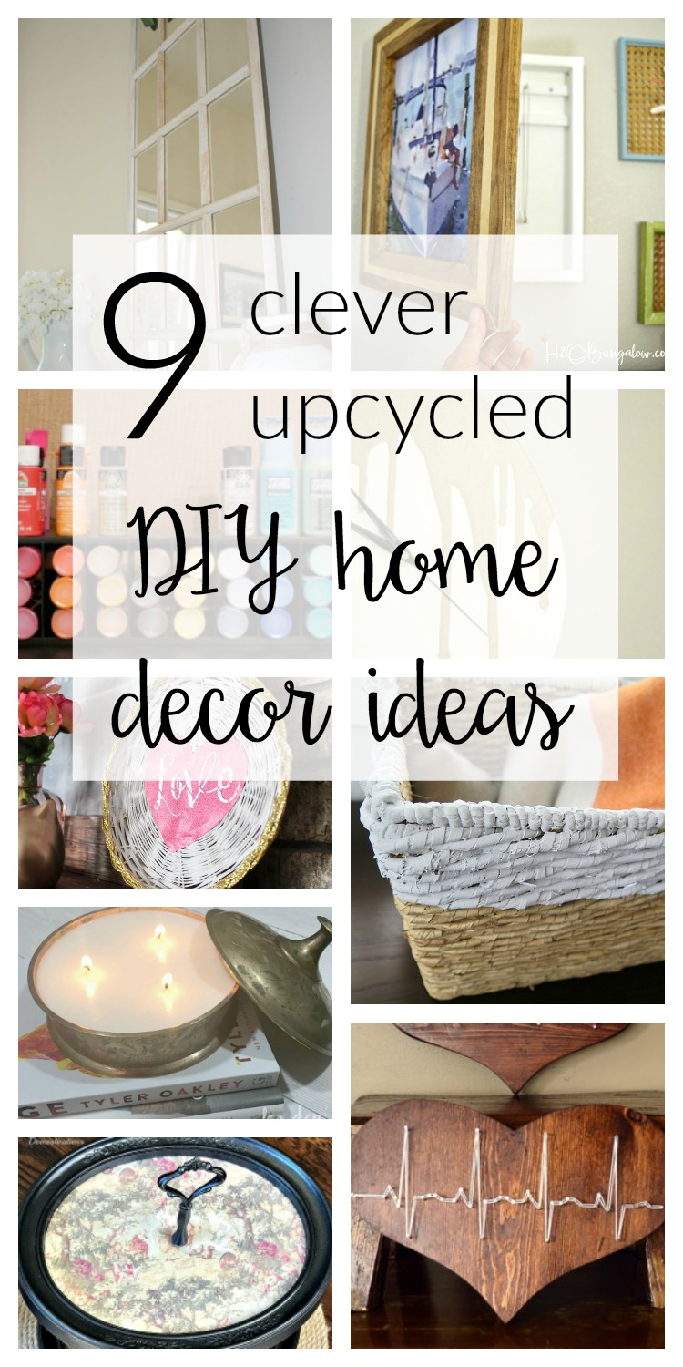 Check out these incredibly clever upcycled DIY home decor ideas! 9 awesome ideas for transforming thrift store items items into usable home decor.