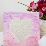 Valentine's Day Canvas Art / Easy DIY Valentine's art idea with watercolors, metallic paint and an inexpensive art canvas from the craft store.