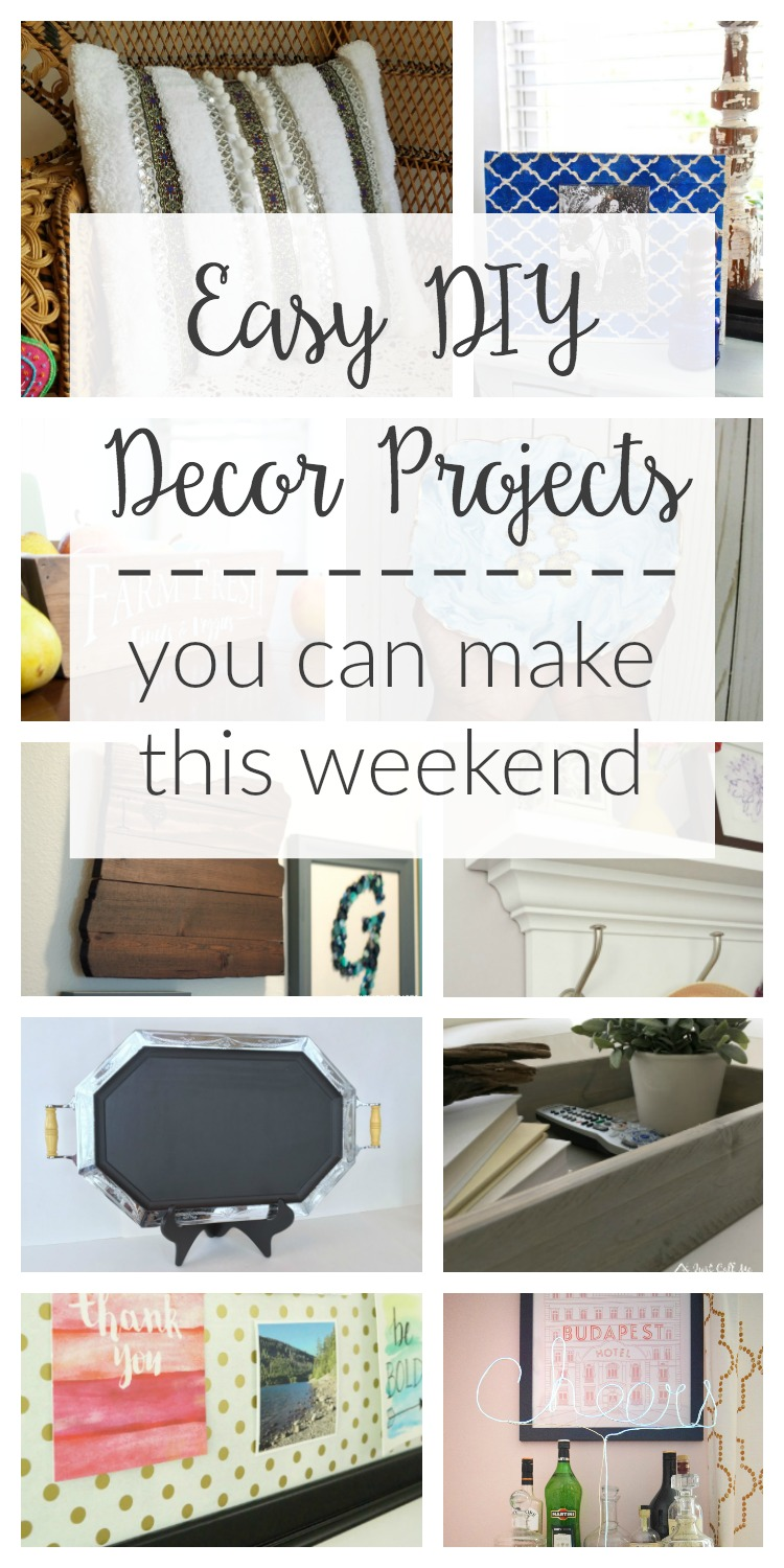 Check out these 10 easy DIY decor projects that you can make in just one weekend! DIY home decor ideas that are creative, fun and simple to do yourself!